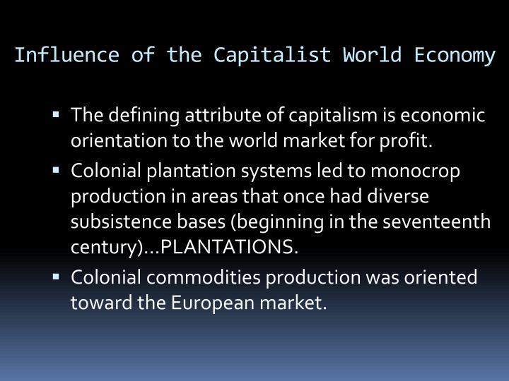 Influence of the Capitalist World Economy