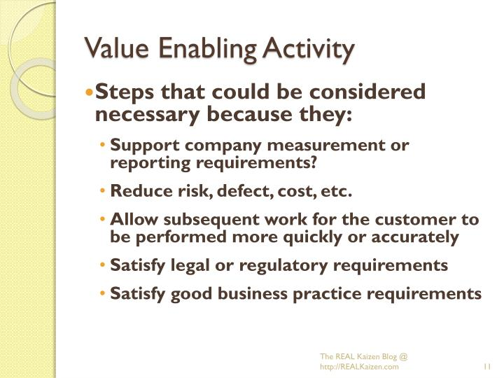 Value Enabling Activity