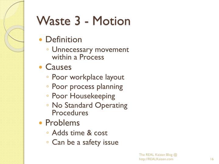 Waste 3 - Motion
