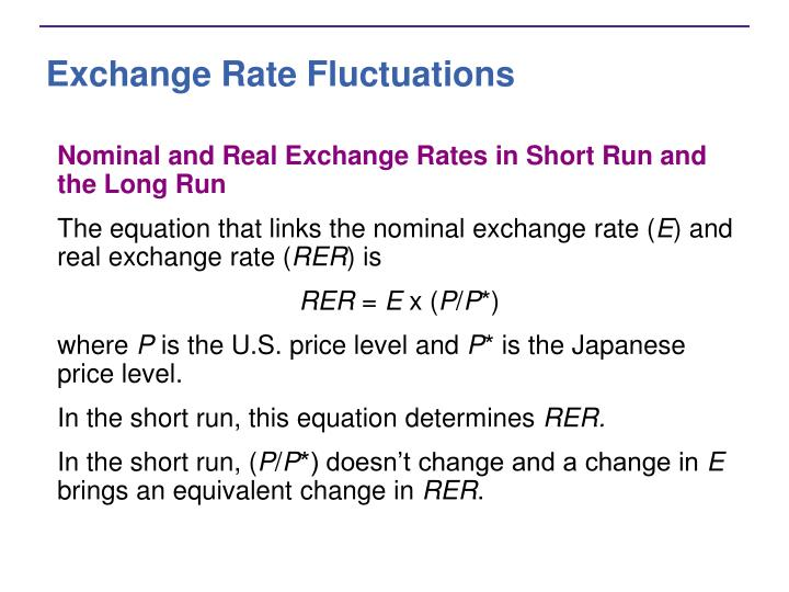 Exchange Rate Fluctuations