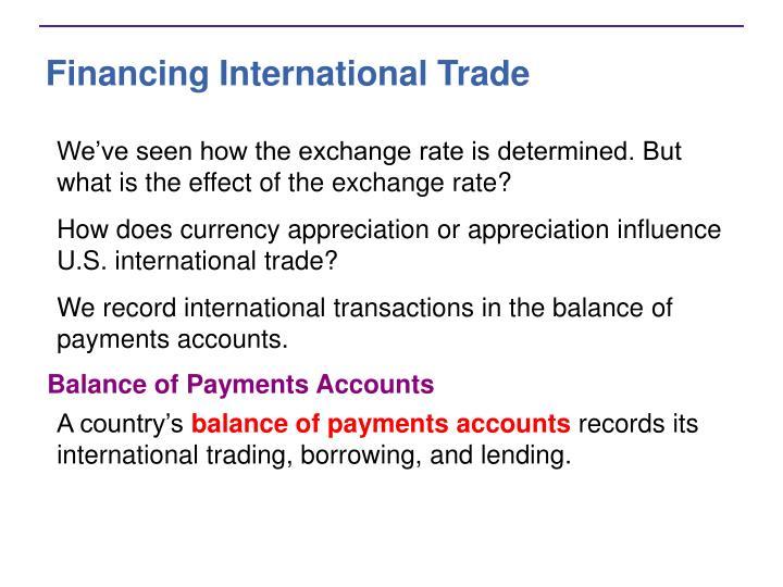 Financing International Trade