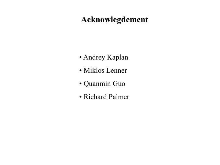 Acknowlegdement