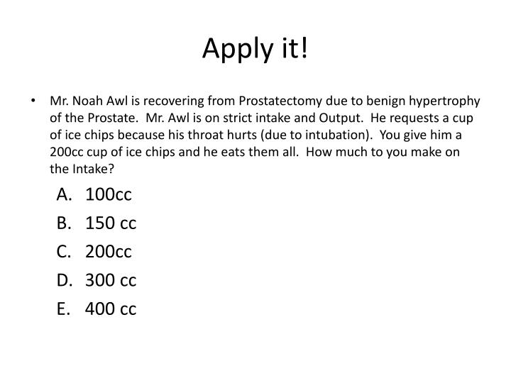 Apply it!
