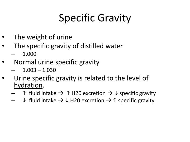 The weight of urine