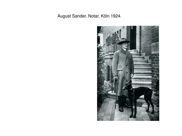 August Sander, Notar, Köln 1924.