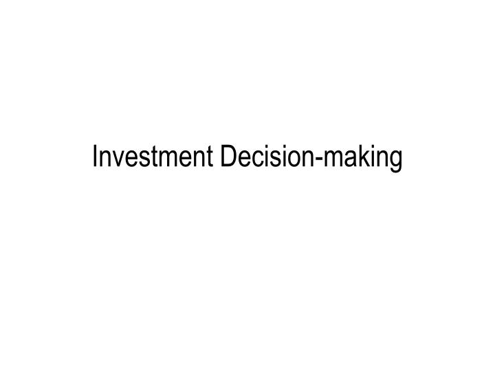 ndiege factors influencing investment decision in Key findings + investment decisions are ultimately based on financial factors, but non-financials wield considerable influence, with 80% of investors reporting that.