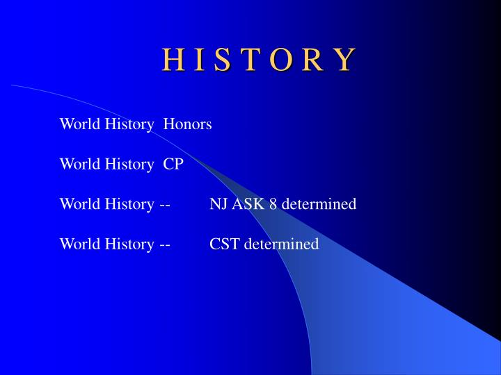 world history honors I want to take the opportunity to welcome you and your child to honors world history this is a true world history class we will be traveling to africa, asia, india , europe and south america.