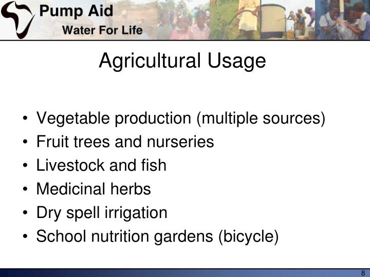 Agricultural Usage