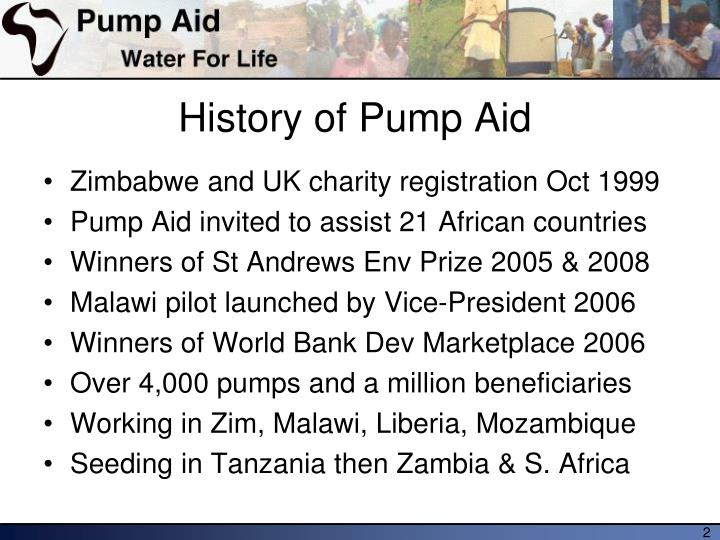 History of pump aid