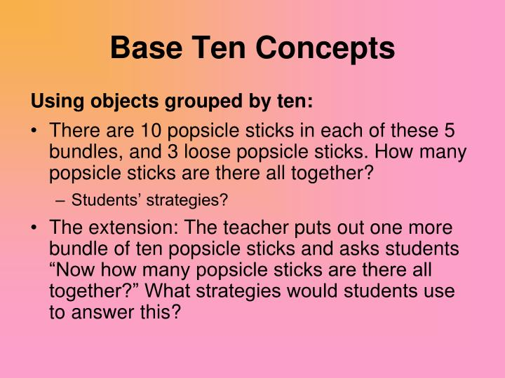 Base Ten Concepts