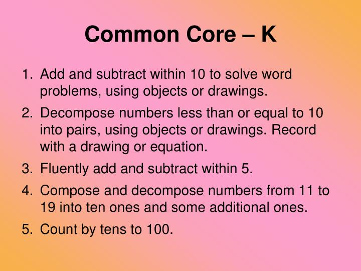 Common Core – K