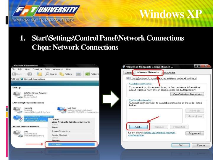 Start settings control panel network connections ch n network connections