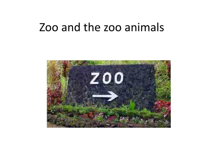 zoo and the zoo animals n.