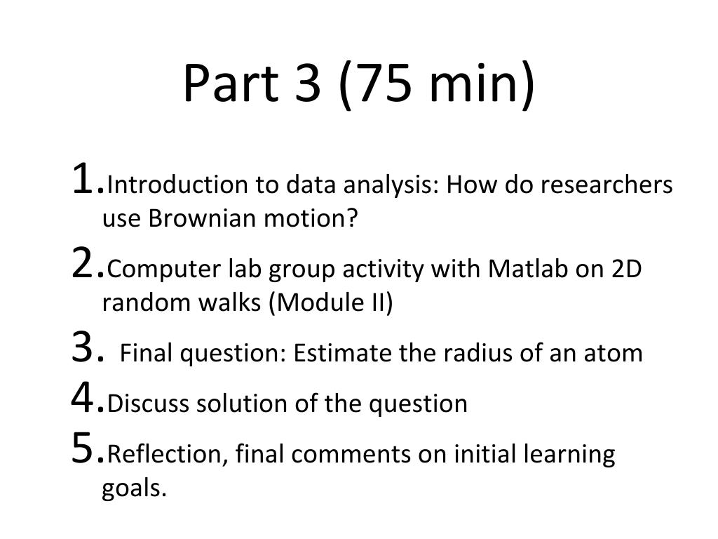 PPT - Teachable Unit: Brownian Motion PowerPoint Presentation - ID
