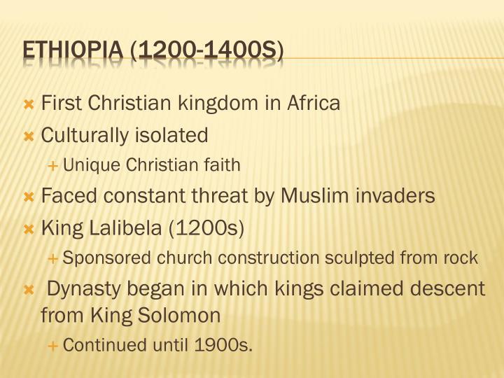 Ethiopia 1200 1400s