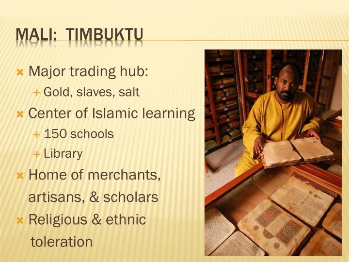 Major trading hub: