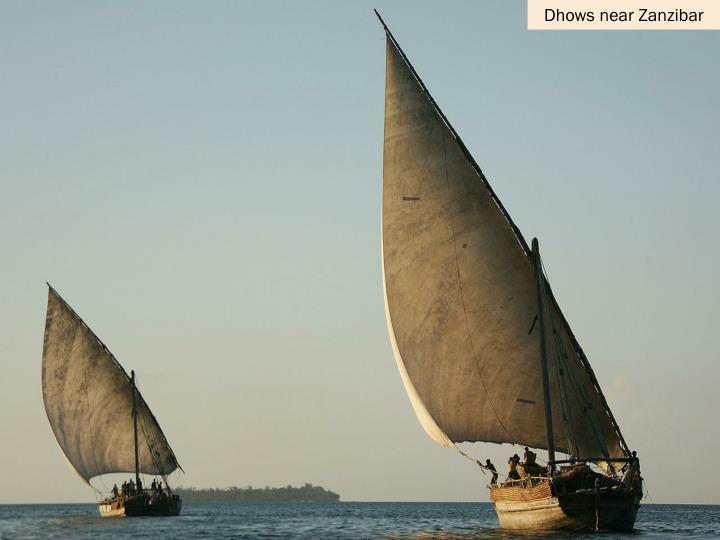 Dhows near Zanzibar