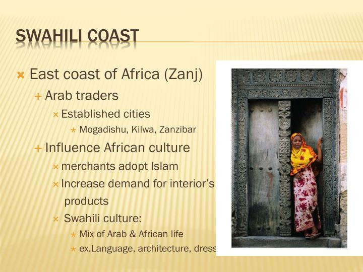 East coast of Africa (Zanj)