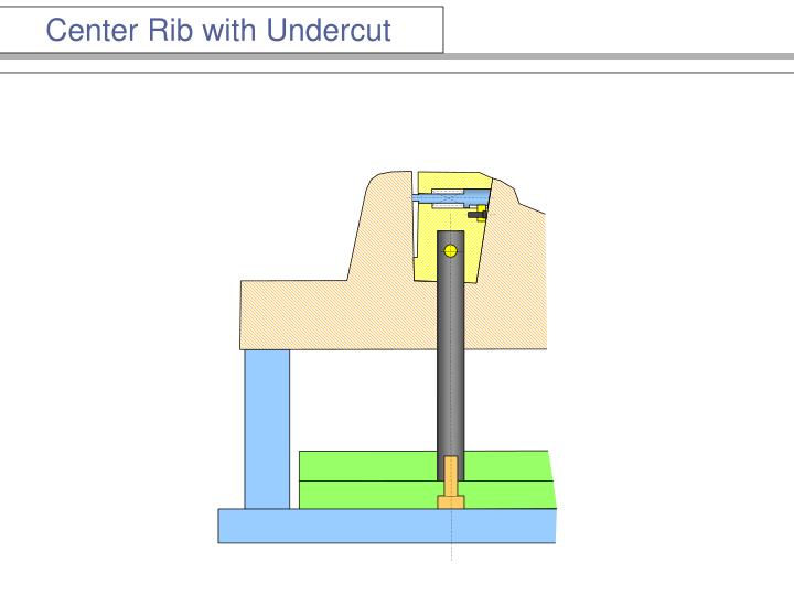 Center Rib with Undercut