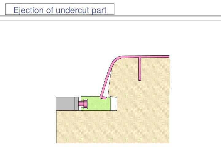 Ejection of undercut part