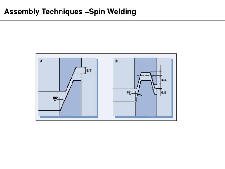 Assembly Techniques –Spin Welding