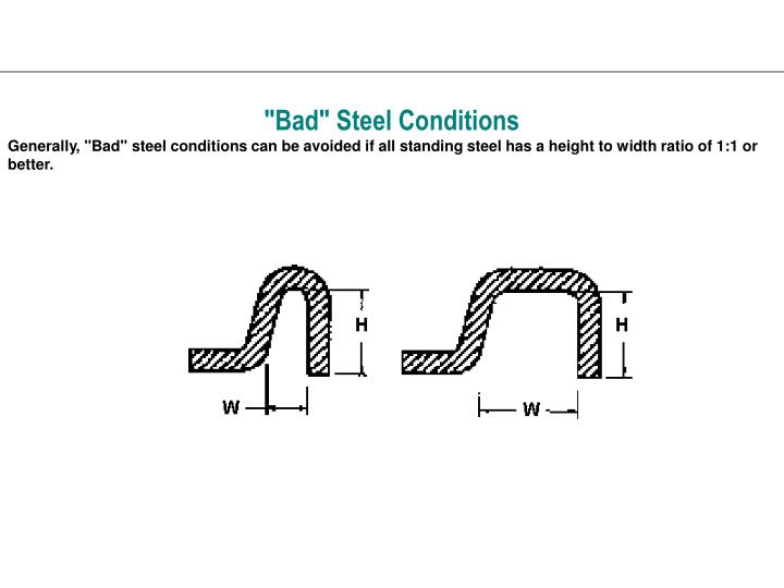 """""""Bad"""" Steel Conditions"""