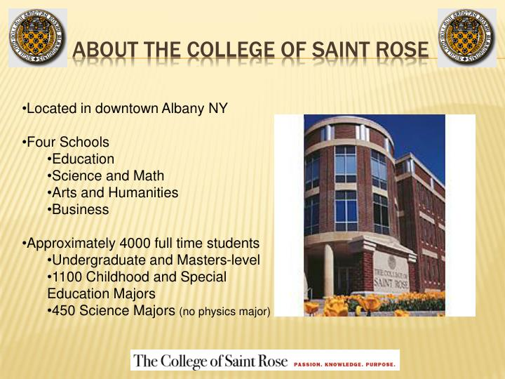 About the college of saint rose