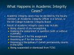 what happens in academic integrity cases