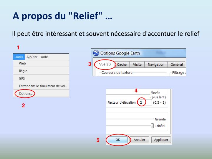 """A propos du """"Relief"""" …"""