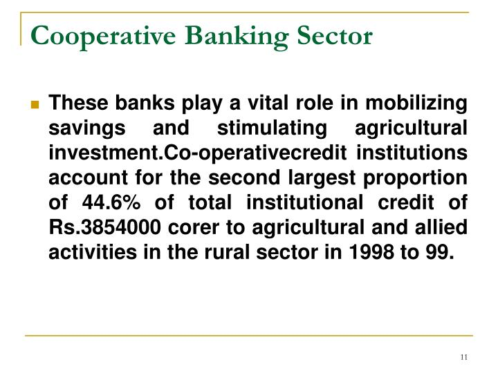 Cooperative Banking Sector