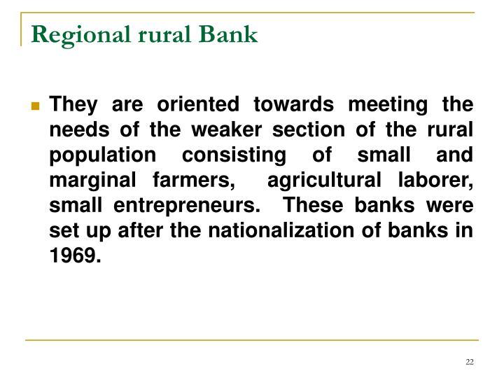 Regional rural Bank
