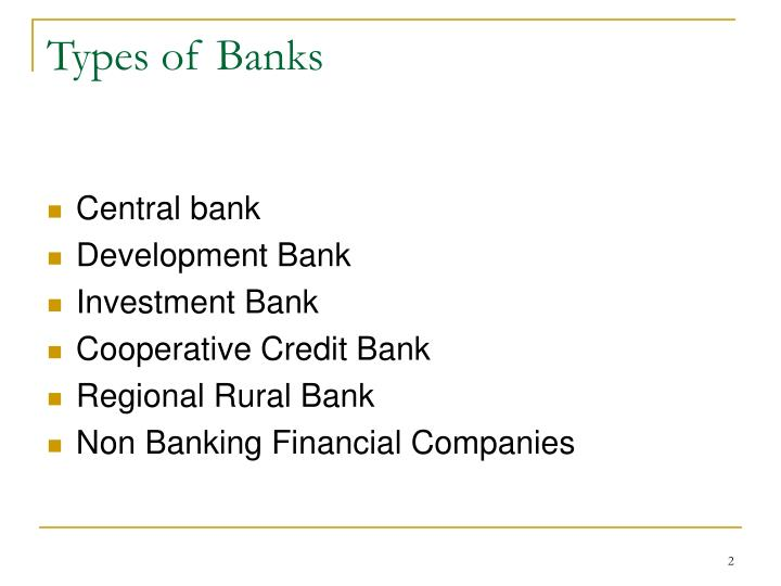 Types of banks1