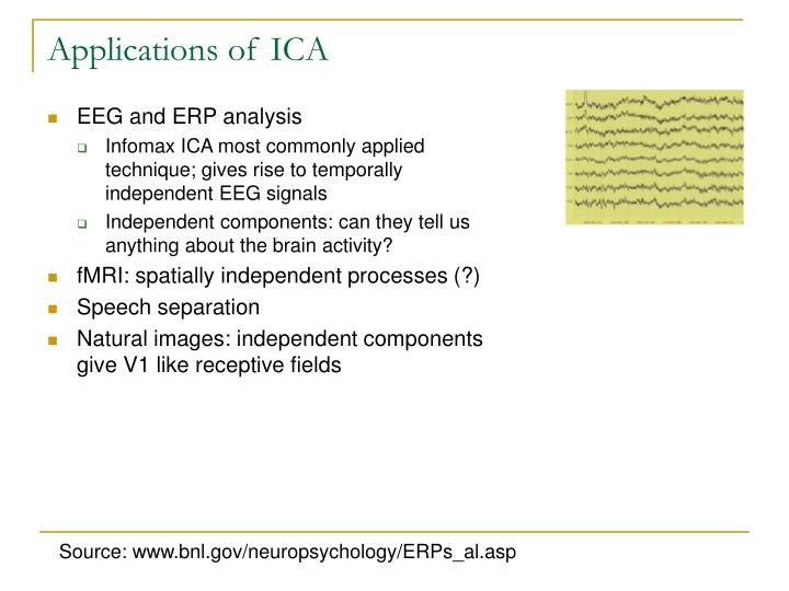 Applications of ICA