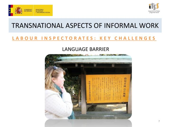 TRANSNATIONAL ASPECTS OF INFORMAL WORK