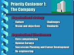 priority customer 1 the company