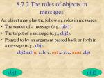 8 7 2 the roles of objects in messages