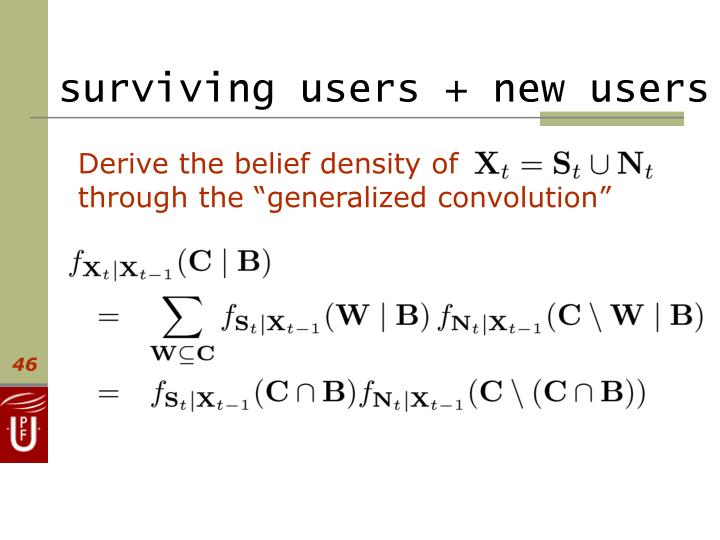 surviving users + new users