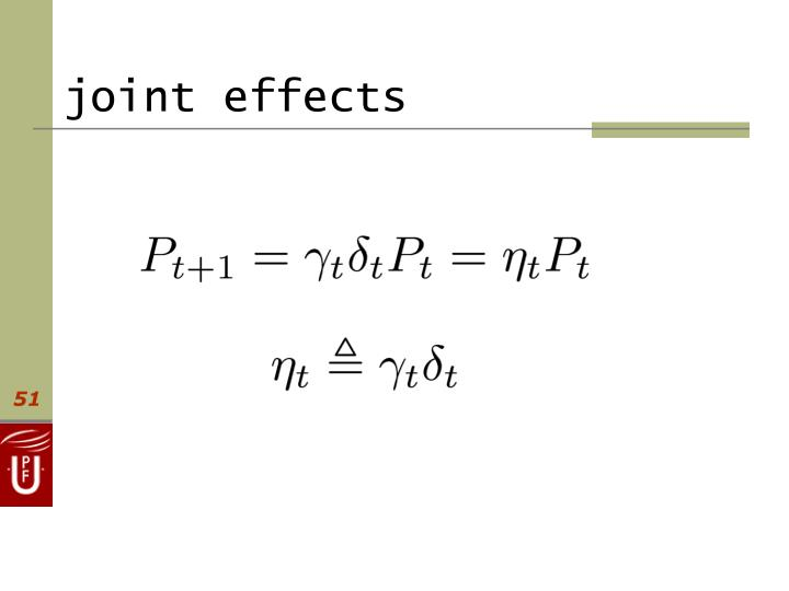 joint effects