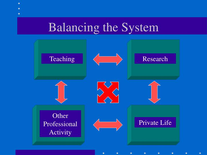 Balancing the System