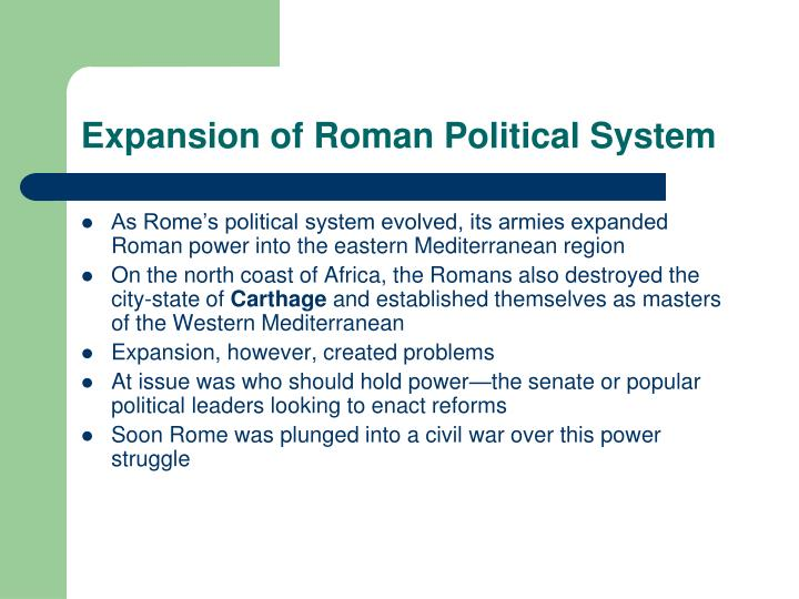 Expansion of Roman Political System