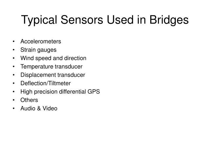 Typical Sensors Used in Bridges