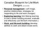 canadian blueprint for life work designs jarvis 2003