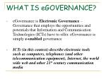 what is egovernance