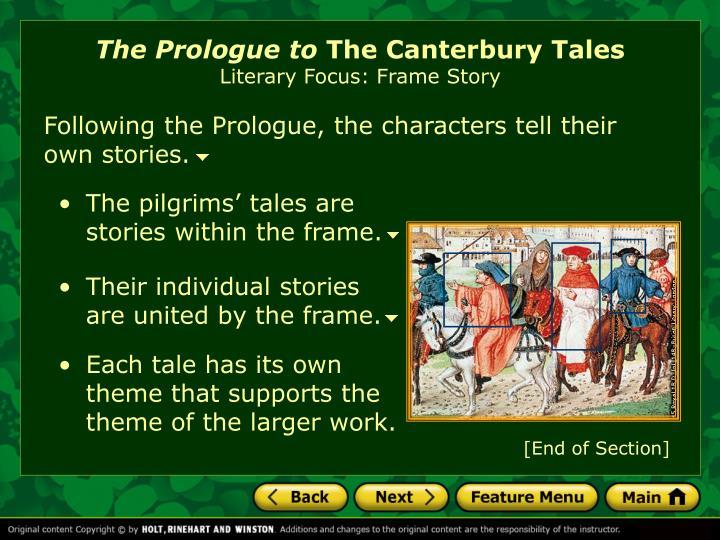 the canterbury tales theme