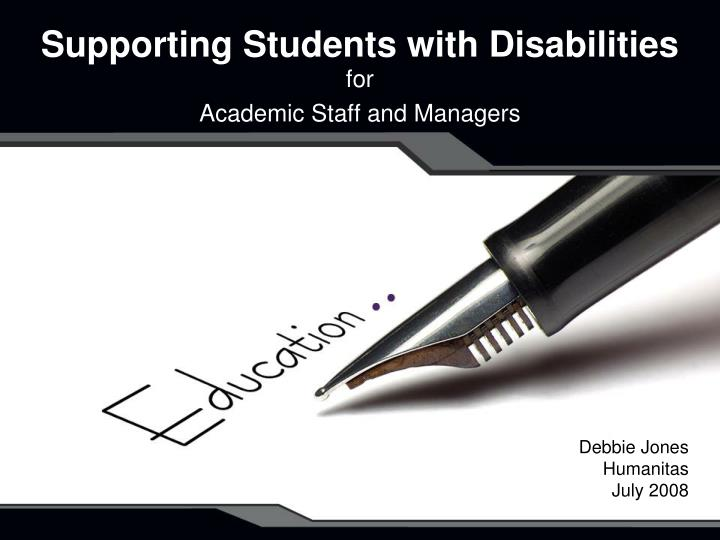supporting students with disabilities n.