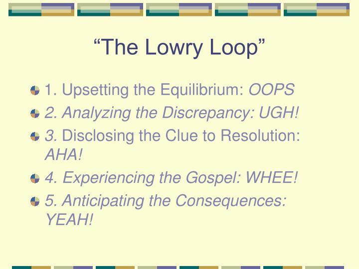 """""""The Lowry Loop"""""""
