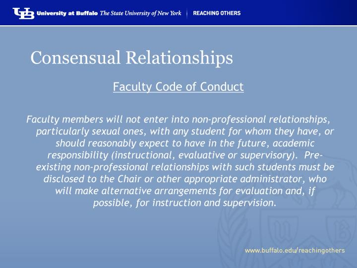 Consensual Relationships