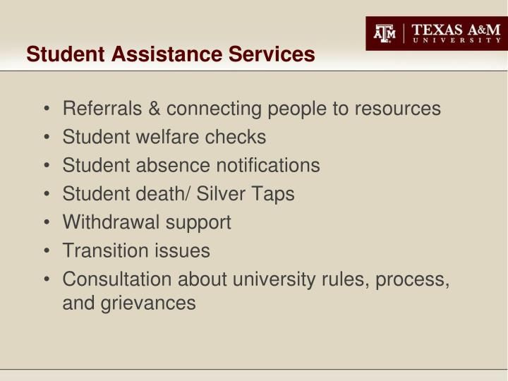 Student Assistance Services