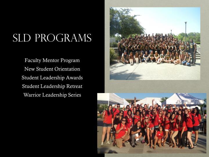 SLD Programs