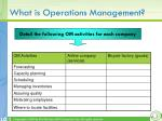 what is operations management1